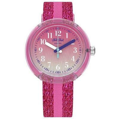 Childrens Flik Flak Pink Sparkle Watch ZFPNP053