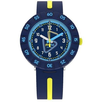 Flik Flak Yellow Tube Kinderenhorloge Navy ZFCSP091