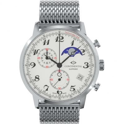 Continental Moon Phase Chronograph Herenchronograaf Zilver 18502-GC101720