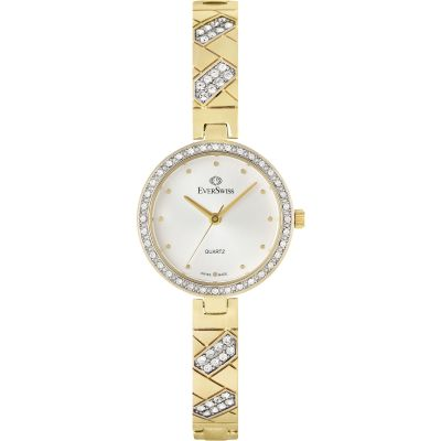 EverSwiss Crystal Dameshorloge Goud 2810-LGS