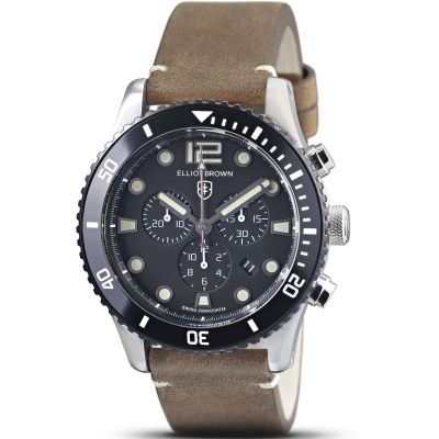 Elliot Brown Herrkronograf Brun 929-016-L21