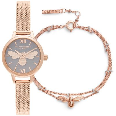 Ladies Olivia Burton Lucky Bee Gift Set Watch OBGSET140