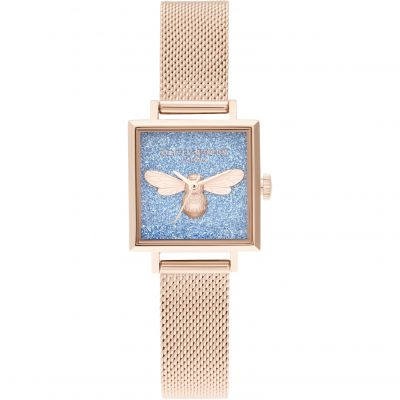 Ladies Olivia Burton Lucky Bee Glitter Dial Watch OB16FB12