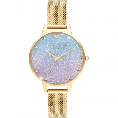 Olivia Burton Under The Sea Glitter Dial Damenuhr in Rosa OB16US48