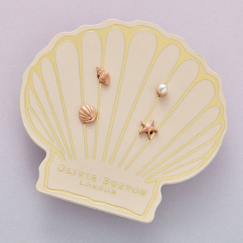 Olivia Burton Under The Sea Under the Sea Rose Gold Stud Pack OBJSCE23