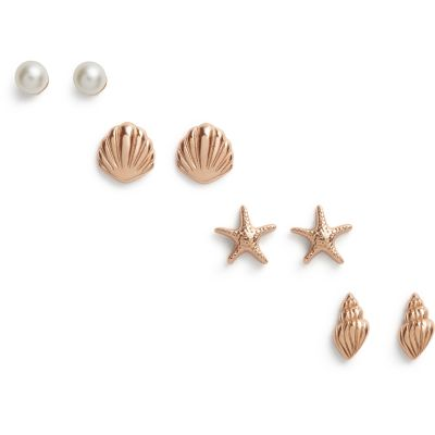 Bijoux Olivia Burton Under the Sea Rose Gold Stud Pack OBJSCE23