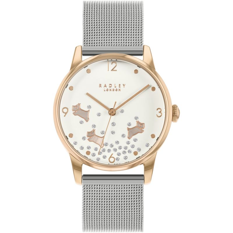 Ladies Radley Ditsy Glitter Dog Watch RY4405
