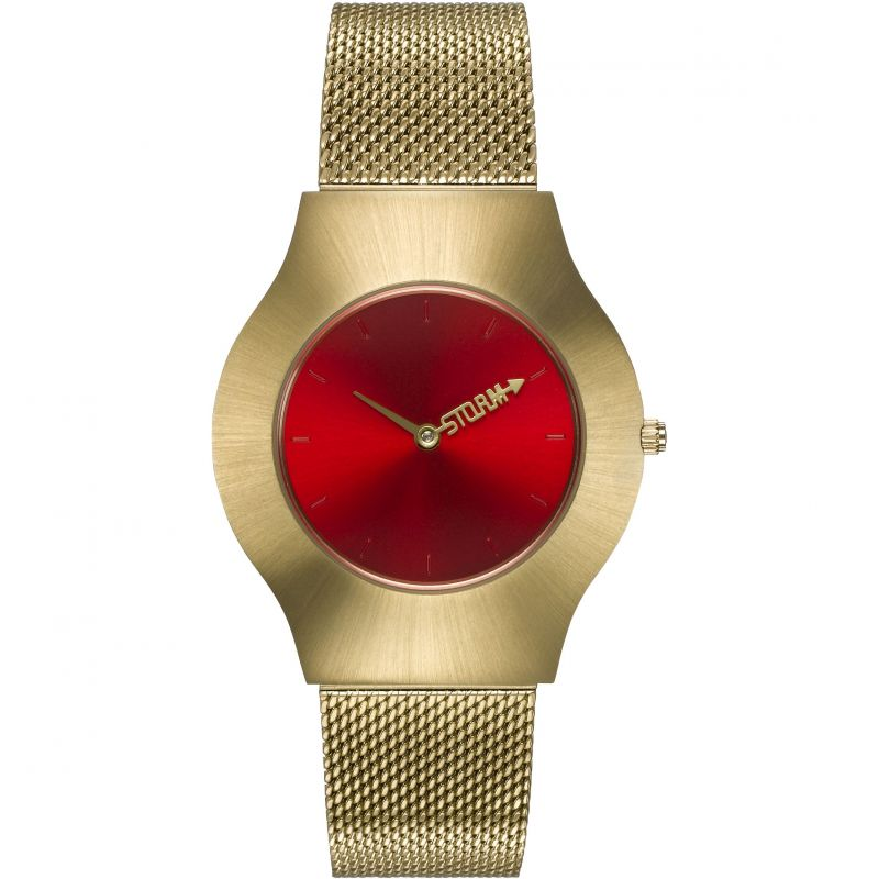 Ladies STORM Storm New Ion Mesh Gold Red Watch 47453/GD
