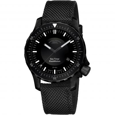 Muhle Glashutte Sea-Timer BlackMotion Herrklocka Svart M1-41-83-NB