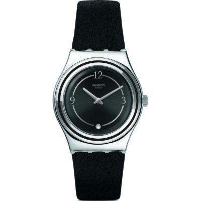 Swatch Madame Night Damklocka Svart YLS214