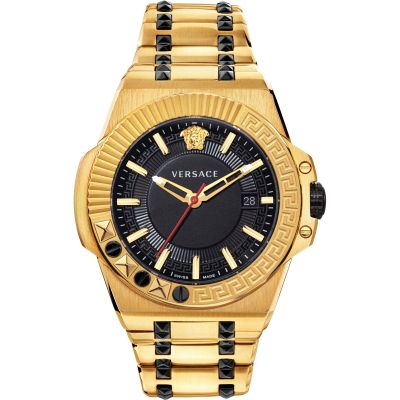 Versace Chain Reaction 45MM Herrklocka Guld VEDY00619