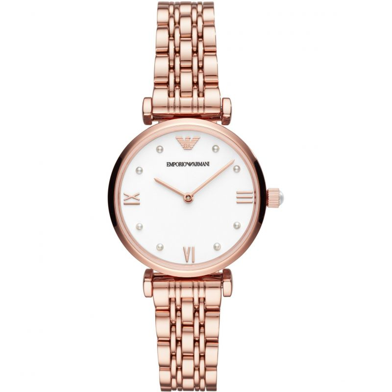 Ladies Emporio Armani Gianni T-Bar Watch AR11267