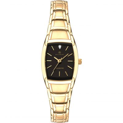 Accurist Accurist Womens Diamond Bracelet Watch Damklocka Guld 8241