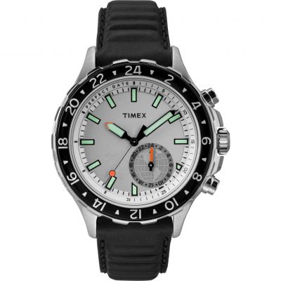 Timex Q+ Move Multi-Time Herrenchronograph in Schwarz TW2R39500