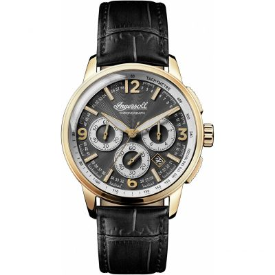Ingersoll 1892 The Regent 1892 Herrenchronograph in Schwarz I00102