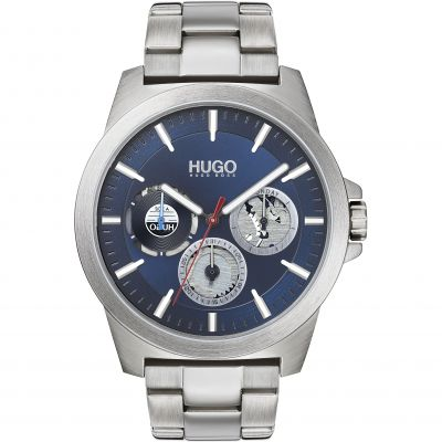 HUGO Twist Herenhorloge Zilver 1530131