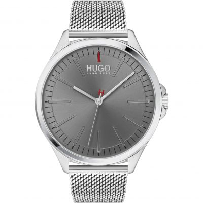 HUGO Smash Herenhorloge Zilver 1530135