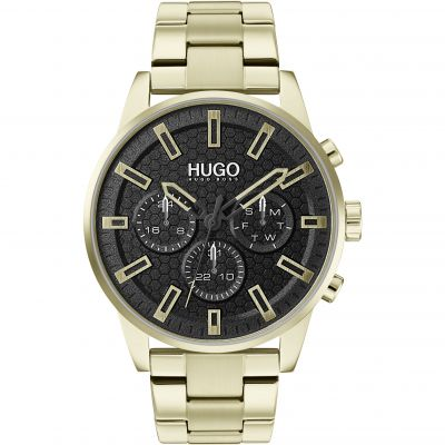 HUGO Seek Herenhorloge Goud 1530152