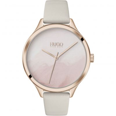 HUGO Smash Dameshorloge Beige 1540059