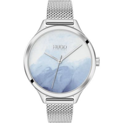 HUGO Smash Dameshorloge Zilver 1540061