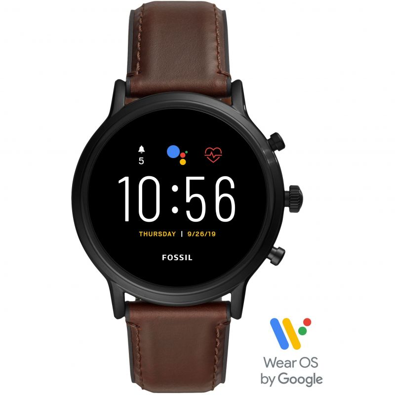 Mens Fossil Smartwatches The Carlyle HR Bluetooth Smartwatch FTW4026