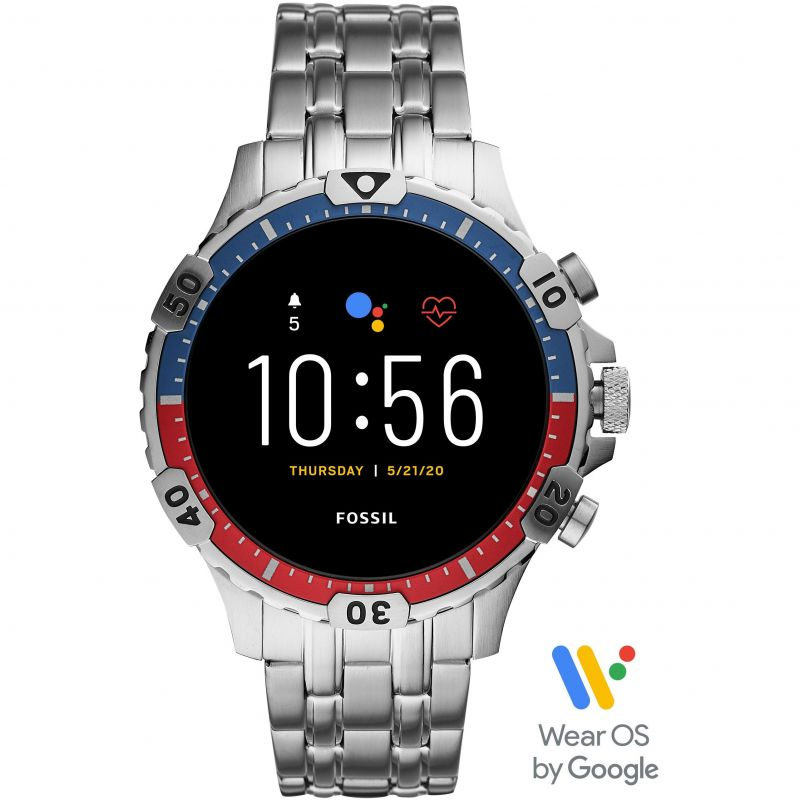 Mens Fossil Smartwatches Garrett HR Bluetooth Smartwatch FTW4040