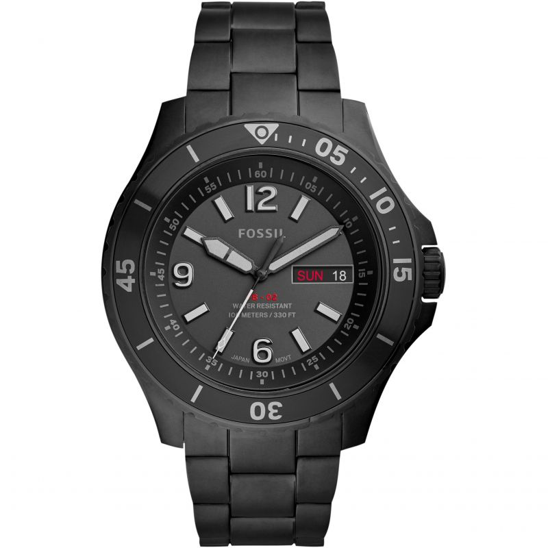 Fossil FB-02 Black Stainless Steel Watch FS5688