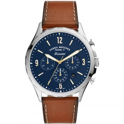 Fossil Forrester Chrono Herenchronograaf Bruin FS5607