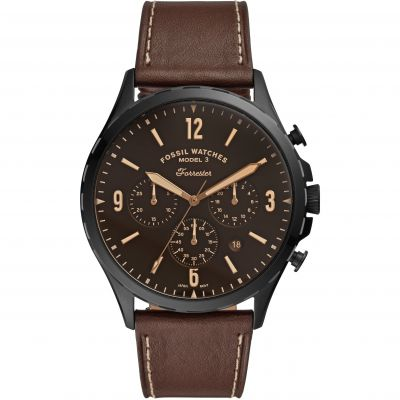 Fossil Forrester Chrono Herenchronograaf Bruin FS5608