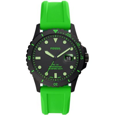 Fossil FB-01 Neon Green Silicone Watch FS5683