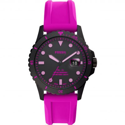 Fossil FB-01 Neon Pink Silicone Watch FS5685
