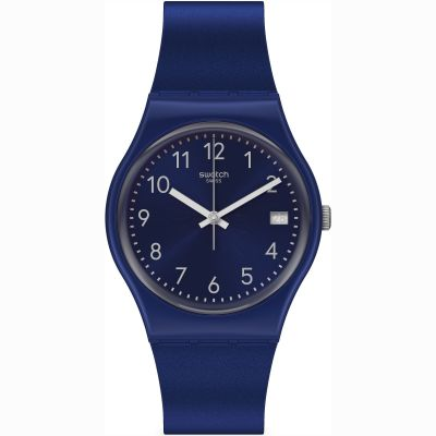 Swatch Originals Silver In Blue Unisexuhr in Marine GN416
