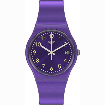 Swatch Purplazing Unisexklocka Lila GV402