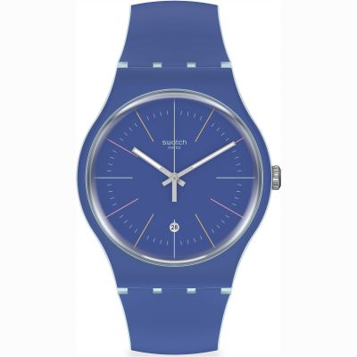 Swatch Originals Blue Layered Unisexuhr in Blau SUOS403