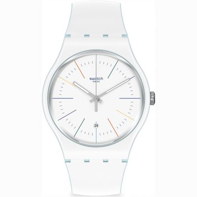 Swatch White Layered Unisex horloge Wit SUOS404