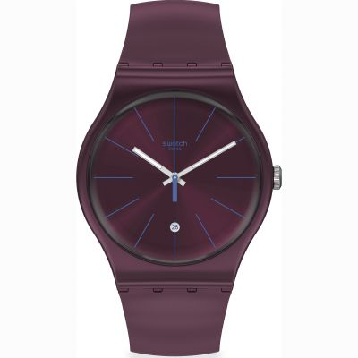 Swatch Originals Burgundazing Unisexuhr in Burgundy SUOR402