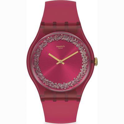 Swatch Originals Ruby Rings Damenuhr in Rot SUOP111
