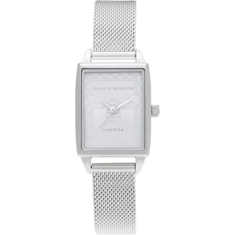 Olivia Burton Bee Silver Mesh Watch OB16SD06