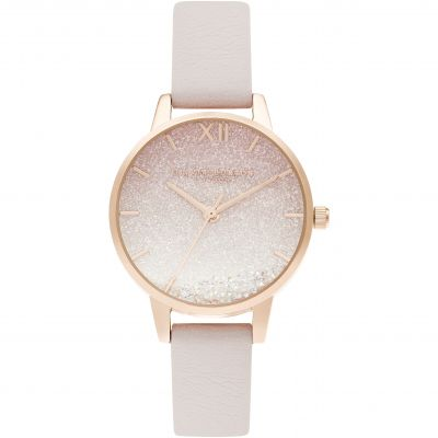 Olivia Burton Under the Sea Sunrise Wishing Wave Midi Dial Pearl Pink & Rose Gold Damenuhr in Pink OB16US57