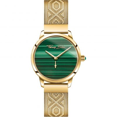 Thomas Sabo Malachite Stone Glam & Soul Watch WA0365-264-211-33MM
