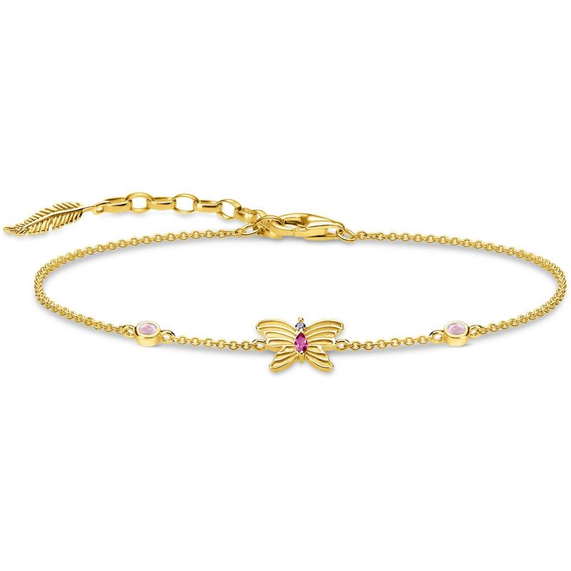 Thomas Sabo Magic Garden Gold Butterfly Bracelet A1937-488-7-L19V