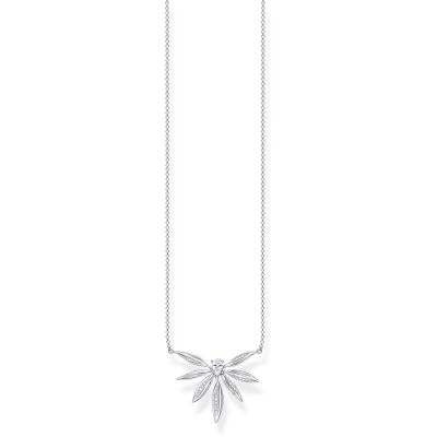 Thomas Sabo Dam Magic Garden Silver Leaf Necklace Sterlingsilver KE1949-051-14-L45V