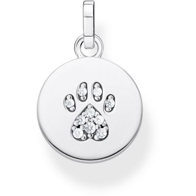Thomas Sabo Dam Magic Cat Paw Coin Pendant Sterlingsilver PE882-643-14