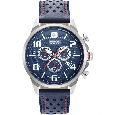 Swiss Military Hanowa Airman Chrono Herenhorloge Dark Blue 06-4328.04.003