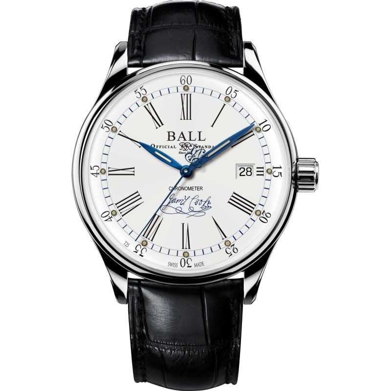 Ball Trainmaster Endeavour Chronometer Watch NM3288D-LL2CJ-WH