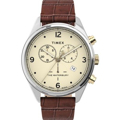 Timex Waterbury Traditional Herrkronograf Brun TW2U04500