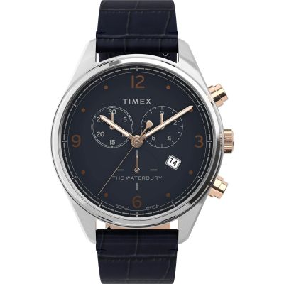 Timex Waterbury Traditional Herrkronograf Blå TW2U04600