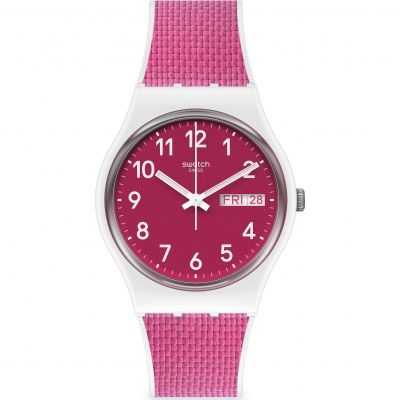 Swatch Berry Light Unisex horloge Roze GW713