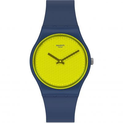 Swatch Yellowpusher Unisex horloge Navy GN266