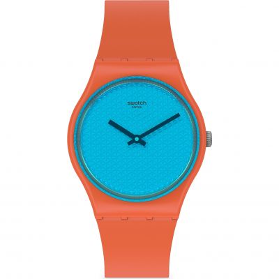 Swatch Urban Blue Unisexklocka Orange GO121
